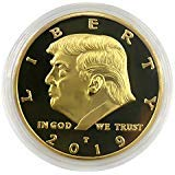 2019 President Donald Trump Coin, Gold Plated Commemorative Novelty Coins with Gift Box ()
