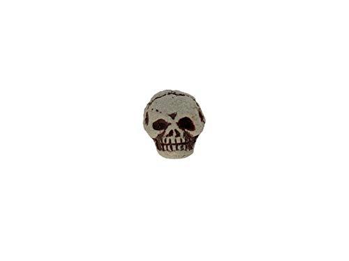 - High Fired Ceramic Skull Beads for Halloween Jewelry