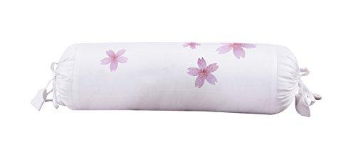 (White and pink Bolster pillow slip sham cover, long pillowcase 6