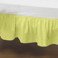 Babydoll Bedding Standard Crib Solid Dust Ruffle, Yellow