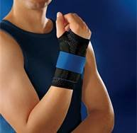 Bauerfeind 11051503070601 Manutrain Wrist Support, Right, Size 1, 5-1/2''-6'' Circumference, Black/Blue by Bauerfeind