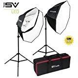 (Smith Victor OctaBella 1000W 2-LED Light Softbox Kit)