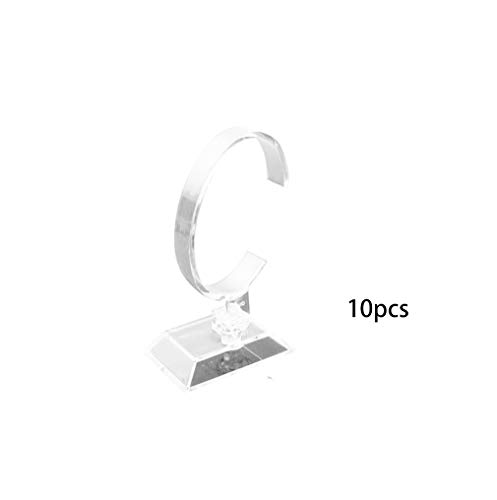 RY DISPLAY10pack of Watch Display Stand Holder et 1 Pcs Crystal Watch Stand