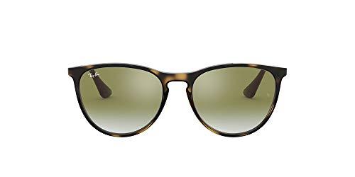 Ray-Ban Junior Kid's RJ9060S Erika Kids Round Sunglasses, Havana/Green Red Gradient Mirror, 50 mm (Kids Sunglasses Mirror)