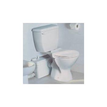 Saniflo Saniplus Mp Saniplus Two Piece Round Toilet With Macerating Pump In White Saniplus Mp