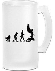 Transhuman Evolution Frosted Glass Pub Big Beer Mug - 500ML