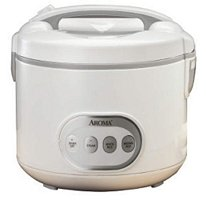 Aroma Digital 8 Cup Rice Cooker & Food Steamer, White
