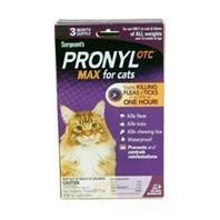 Sergeant's Pronyl OTC Max Cat Flea and Tick Sqz-On Flea Drops, 3 Count, My Pet Supplies