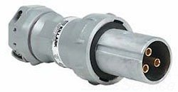 Killark VP10487 Pin and Sleeve Plug, 3 Wire, 4 Pole, 100 Amp, 600V, Copper-Free Aluminum by Killark
