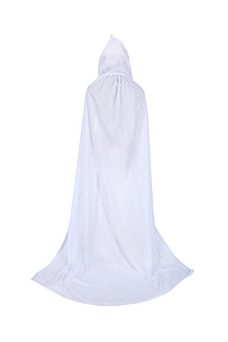 TULIPTREND Full Length Hooded Cloak Christmas Halloween Cosplay Costume Wedding CapeUS L (tag size XL (XL=170cm) -