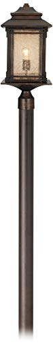 - Hickory Point Mission Outdoor Post Light with Direct Burial Pole Walnut Bronze 104
