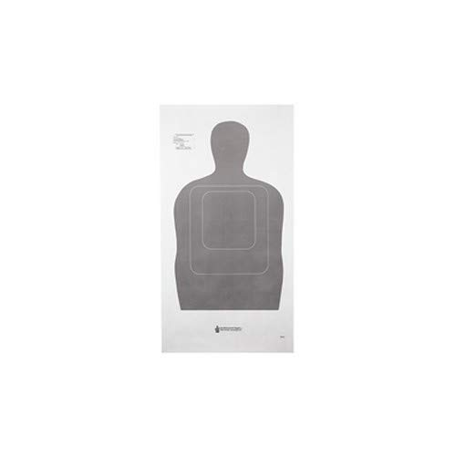 Law Enforcement Targets TQ-15 Standard Silhouette 25 Yard Qualification Target Gray 100 Per