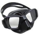 Scuba Choice Black Spearfishing Free Dive Ultra Low Volume Comfort Fit Silicone Dive Mask - Low Volume Mask