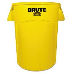 44 Gallon Trash Container - Rubbermaid Commercial FG264360YEL BRUTE Heavy-Duty Round Waste/Utility Container, 44-gallon, Yellow