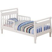 Furniture Sleigh Toddler Bed (Baby Relax Sleigh Toddler Bed WHITE WM1646RW)
