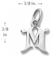 Curly Initial Letter M Rembrandt Charms