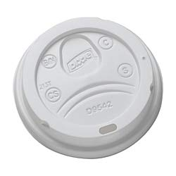 Dixie 9542500DXCT White Dome Lid Fits 10-16oz Perfectouch Cups, 12-20oz Hot Cups, WiseSize (Case of 500) -
