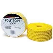 RoadPro RPPR-5014 Yellow 0.25 x 50 Polyurethane Rope