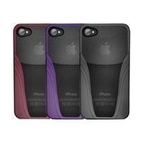 iSkin Solo Vu Case for iPhone 4S - Retail Packaging - Red