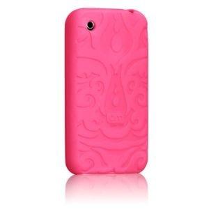 Case Mate Ipod Touch - Case-Mate iPod Touch Pink Tiki 2G 3G Rubber Case