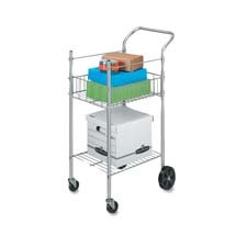 Fellowes Economy Mail Cart, Two-Shelf, 20-1/2w x 38d x 36-1/2h, Chamois by Fellowes