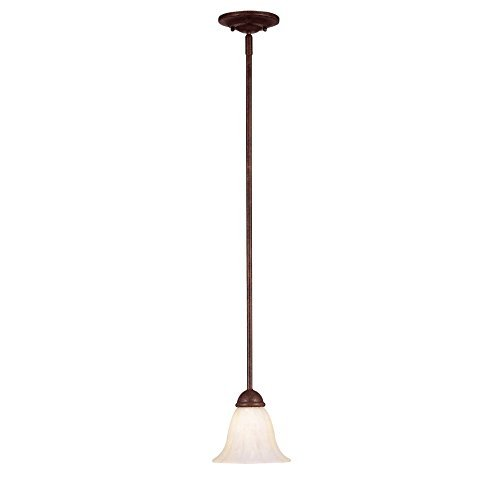 Savoy House KP-7-5009-1-40 Mini Pendant with Cream Marble Shades, Walnut Patina Finish by Savoy House