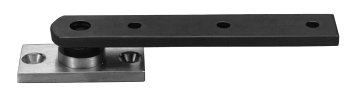 128-3/4 Center Hung, Bronze Based Pivot - Brushed Chrome (US26D) Finish by Rixson-Firemark