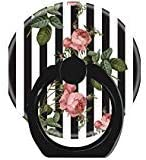 LoveStand-Cell Phone Ring Holder 360 Degree Finger Ring Stand for Smartphone Tablet and Car Mount-Vintage Floral Striped