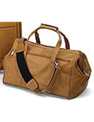 Wide Mouth Duffel Bag - Tan