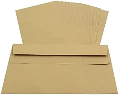 Packitsafe 1000 x DL Size Plain Envelopes 110mm x 220mm Self-Seal Manilla (Brown) Standard Paper Mailers
