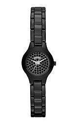 DKNY Women's Polished Black Pave Crystal Mini Watch - NY8693