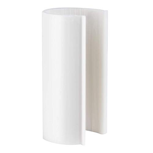 Snap Clamp 3/4 Inch x 4 Inches Wide for 3/4 Inch PVC Pipe White 10 per ()