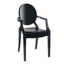 Exceptionnel Kartell Louis Ghost Armchair Black