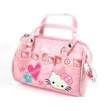 c627ef0003 Girls Hello Kitty Pink Small Sized Hang Bag Glitter Glam High Fashion  Embroidered Gift Present