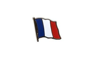 Flaggenfritze Flaggen-Pin//Anstecker Frankreich vergoldet