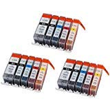 15 Pack New Compatible Canon PGI-220 CLI-221K CLI-221C CLI-221M CLI-221Y Inkjet Cartridge for use in IP3600,IP4600,IP4700,MP540,MP550,MP560,MP620,MP620B,MP630,MP640,MP980,MP990,MX860,MX870 Sold by Karl Aiken ()