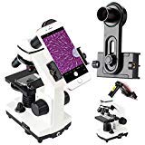 2019 New Version Microscope Lens Adapter, Microscope Smartphone Camera Adaptor - for Microscope Eyepiece Tube 23.2mm, Built-in WF 16mm Eyepiece - Capture and Record The Beauty in The Micro World by Gosky