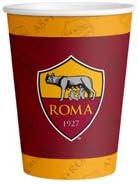 16 Piatti, 16 Bicchieri, 20 TOVAGLIOLI,1 TOVAGLIA,1 Ghirlanda Party Store web by casa dolce casa A.S Kit n/°8 CDC- Roma Coordinato Sport Calcio Roma per Compleanno Eventi ADDOBBI TAVOLA Festa