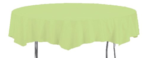 Creative Converting Octy-Round Plastic Table Cover, 82-Inch, Pistachio ()