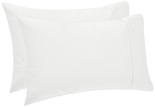 Pinzon 400-Thread-Count Egyptian Cotton Sateen Hemstitch Pillowcases - King, Eggshell (Set of 2)
