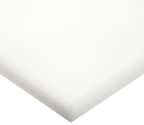 UHMW (Ultra High Molecular Weight Polyethylene) Sheet, Opaque White, Standard Tolerance, ASTM D4020, 1/8