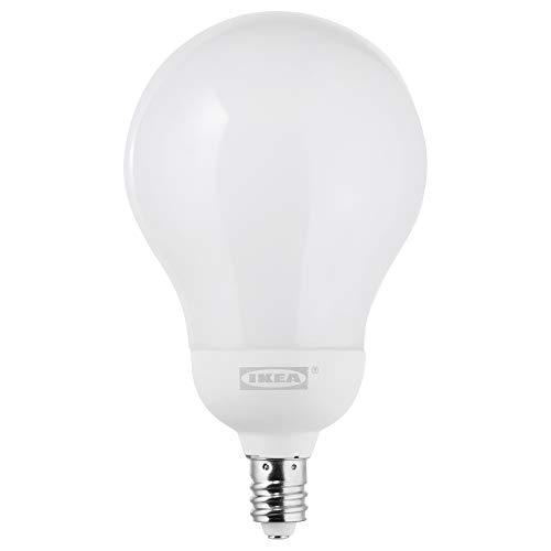 IKEA 203.888.30 Ledare Led Bulb E12 600 Lumen, Dimmable Warm Dimming, Globe Opal