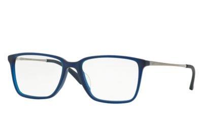 Ray-Ban Men's RX5343D Eyeglasses Matte Blue 55mm by Ray-Ban