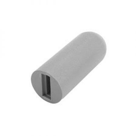 Rubber Tips For Invacare Wheelchair Brake Wheel Locks, Grey for 1/2 Inch Flat Handle - Pair ()