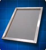 STS 6 Pack Aluminum Screen Printing Frames 6 - 20'' X 24'' 1 3/8 Square Tubing 110 White (With Premier Mesh Produced by STS)