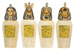 Egyptian Canopic Jars Collectible Figurine, Set of 4