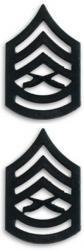 Marine Corps Gunnery Sergeant Black Collar Device Rank Insignia Pair