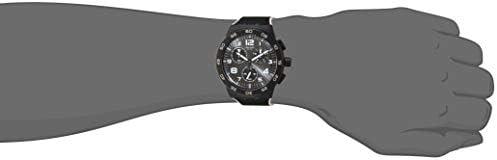 Swatch Chrono Plastic Swiss Quartz bimaterial Strap, Black, 20 Casual Watch (Model: SUSB106)