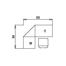 Tischsystem Ergonomic Serie B »Set 3R« Rollcontainer 160x200cm Eckplatte Ahorn