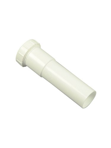 Danco 94029 Slip-Joint Extension Tube, 1-1/2 in, 6 in L, Plastic, [Finish]<, for Use with Kitchen and Bathroom Sinks, White